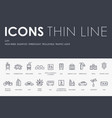 city thin line icons vector image