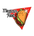 Color vintage mexican food emblem vector image