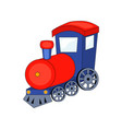 cute cartoon train isolated vector image