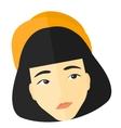 Doubtful young woman vector image