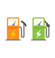 electric vehicle charging station icon vector image