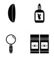 eye doctor icon set vector image vector image