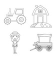 farm and agriculture logo vector image