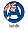 flag of australia of the world in the form of a vector image vector image