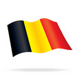 flying flag of belgium vector image vector image