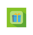 gift logo background vector image vector image
