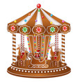 gingerbread carousel vector image vector image