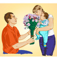 gives flowers vector image vector image