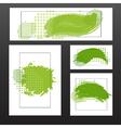 green blots vector image