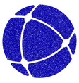 internet sphere icon grunge watermark vector image vector image