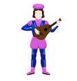 isolated medieval bard character
