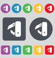 knife picnic icon sign A set of 12 colored buttons vector image