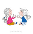 little girls laughing vector image