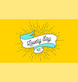 lovely day vintage ribbon vector image