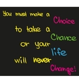 Make a choice vector image vector image