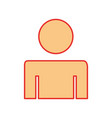 man gender silhouette isolated icon vector image vector image