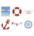 maritime mix vector image
