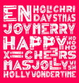 merry christmas lettering design set hand draw vector image vector image