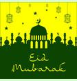 mosque eid mubarak background design vector image vector image