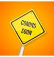 Photorealistic Website Coming Soon Road vector image vector image