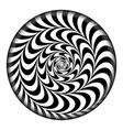 radial spiral psychedelic vector image vector image