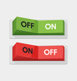 realistic toggle switch white switches vector image vector image