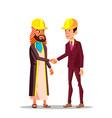 realtors and construction business arabian vector image vector image
