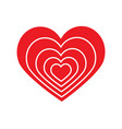 red heart in symbol love and valentine vector image vector image