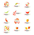 red peppers on white background chili pepper vector image