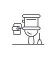 restroom line icon concept restroom linear vector image vector image