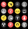 scientific buttons vector image vector image