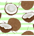 seamless pattern with coconuts vector image vector image