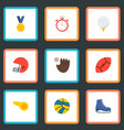 set of sport icons flat style symbols with rugby vector image
