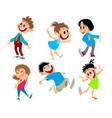 set six fun children vector image