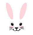 simple blank for design head a cute bunny vector image vector image