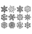 snowflakes large set vector image