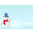 snowman for christmas vector image