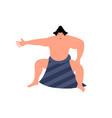 sumo fighter flat character sumo wrestler design vector image vector image