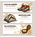 Tourism Camping Hiking Banners vector image