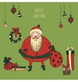 Vintage Metal Sign - Merry Christmas vector image vector image