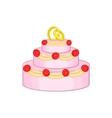 Wedding cake icon cartoon style vector image vector image