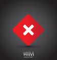 X button vector image