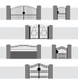 Entrance Gate Door Fence Garden vector image