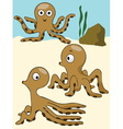 octopus under the sea vector image