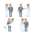 wedding couple characters vector image