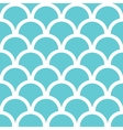 Abstract blue fishscale seamless pattern vector image vector image