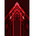 abstract red light geometric arrow direction on vector image vector image
