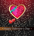 background with a big heart vector image vector image