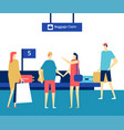 baggage claim at the airport - flat design style vector image