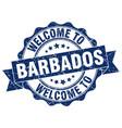 barbados round ribbon seal vector image vector image